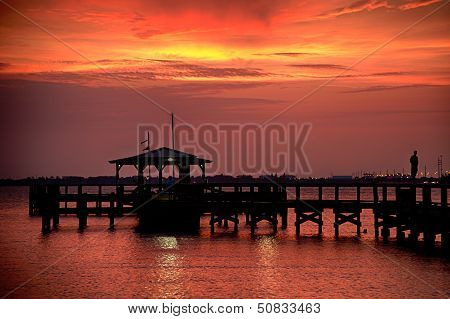 Pier In The Ocean