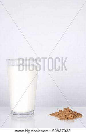 White Milk And Chocolate Powder