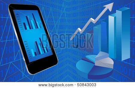 Smart Phone With Financial Background