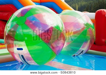 Water Ball In Open Swimming Pool