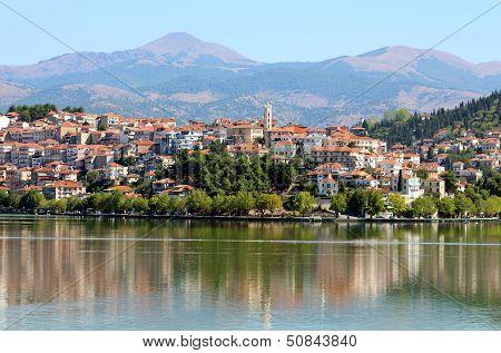 City Kastoria And Lake Orestiada, Greece