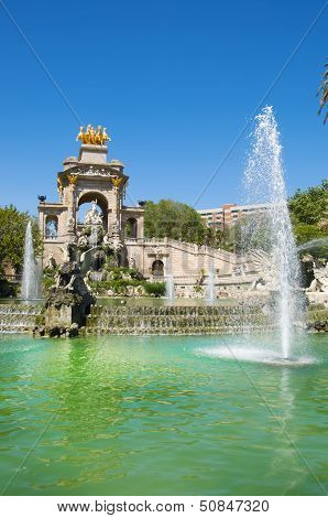 Parc De La Ciutadella In Barcelona