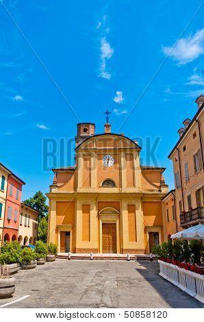 the church of Campagnola Emilia, north of Italy