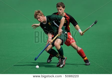 Men's Field Hockey Action