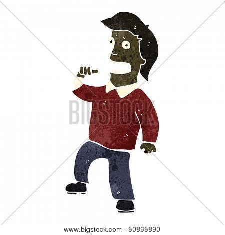 retro cartoon egotistical man