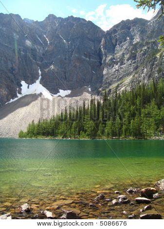 Mountains And Green Lake