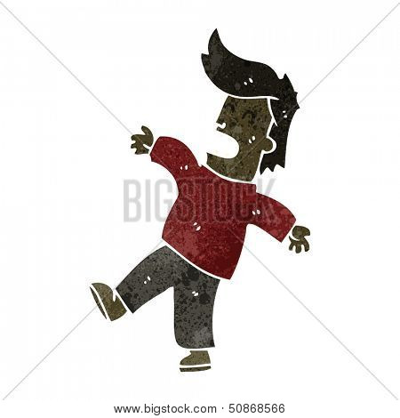 retro cartoon fainting man