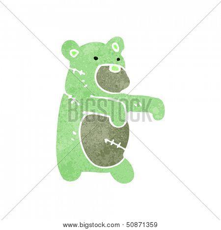 retro cartoon zombie teddy bear poster