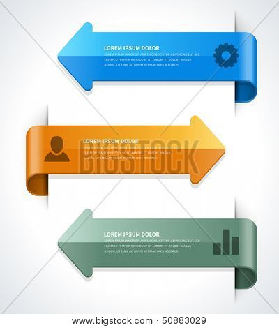 Infographics options design elements. Vector illustration. Lines and banner numbers and icons website eps 10.