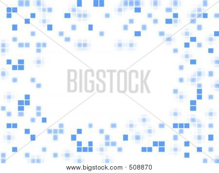 Empty Board With Blue Spots