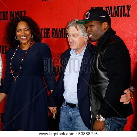 NEW YORK-SEP 10: (L-R), Grace Hightower, Robert DeNiro and 50 Cent attend