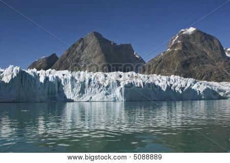Glacier In Sermilik Fjord, Greenland