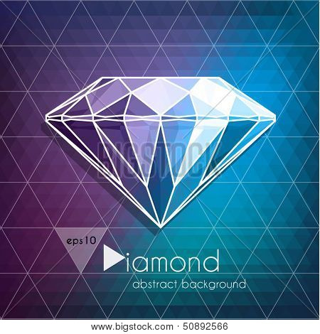 Abstract diamond background - eps10