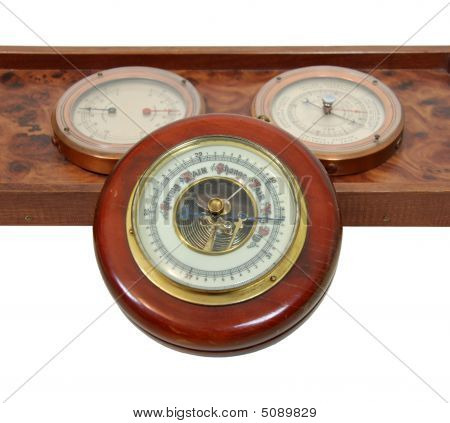 Antique Barometer And Dials