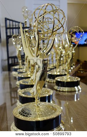 BEVERLY HILLS - JUN 16: Emmy Statues at the 40th Annual Daytime Emmy Awards at The Beverly Hilton Hotel on June 16, 2013 in Beverly Hills, California