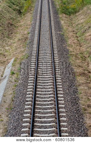 Railway Tracks Abstract Infinity Top View