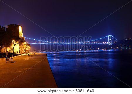 Fsm Bridge And Rumeli Hisari Night View