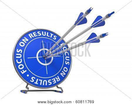 Focus on Results Slogan - Hit Target.