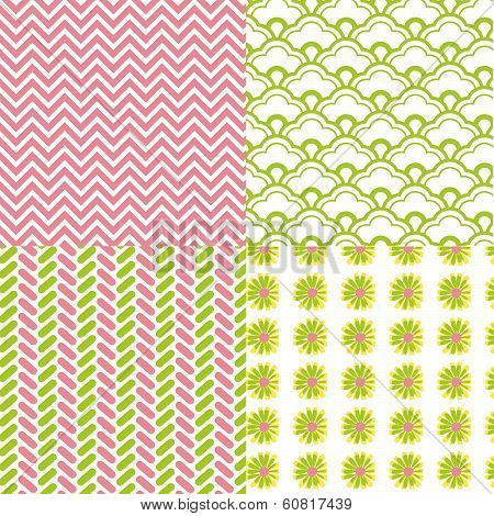 4-patterns-chevron-daisy-flower-spring
