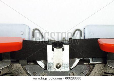 Part of typing machine