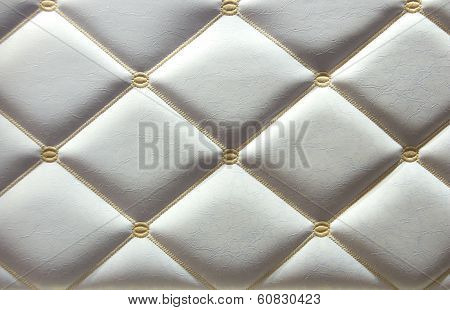 Luxurious White Leather Walls