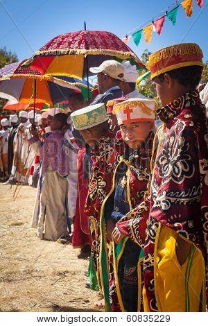 Ethiopian boy During Timkat Festival