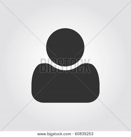 User man icon, flat design