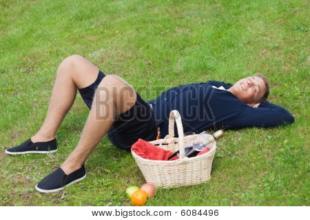 Man On Picnic