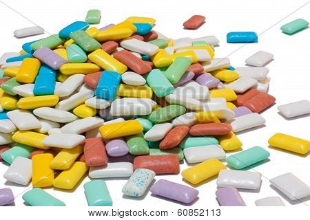 Colourful Pile Of Chewing Gum