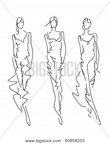 Sketch Fashion Poses - fashion hand drawing