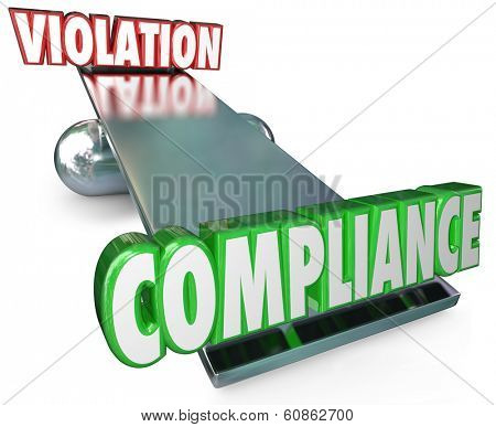 Compliance Word Outweighs Violation Scale See-Saw Follow Rules