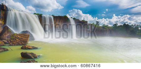 Beautiful Dray Nur waterfall in Vietnam. Panorama poster