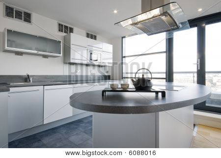 Luxury Kitchen With Separate Work Areas