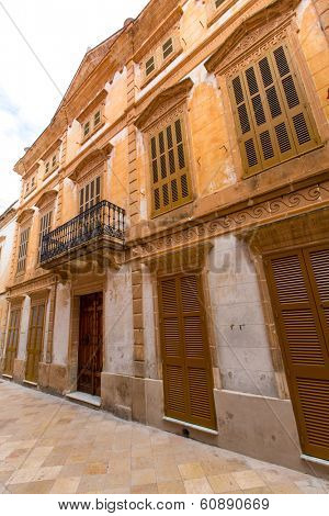 Ciutadella Menorca historic downtown in Ciudadela at Balearic islands poster