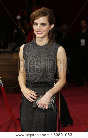 LOS ANGELES - MAR 2:  Emma Watson at the 86th Academy Awards at Dolby Theater, Hollywood & Highland on March 2, 2014 in Los Angeles, CA