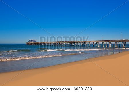 Newport pier beach in California USA surf spot