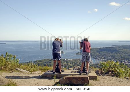 Tourists Viewing Penobscot Bay
