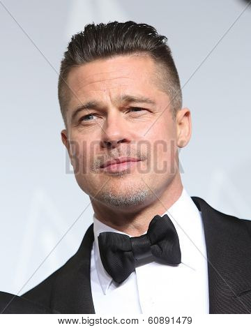 LOS ANGELES - MAR 2:  Brad Pitt at the 86th Academy Awards at Dolby Theater, Hollywood & Highland on March 2, 2014 in Los Angeles, CA