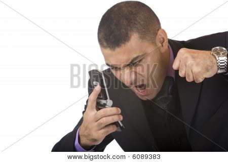 Business Man Screams Because Of Stress