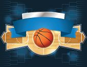 A vector illustration of a basketball tournament concept. Vector EPS 10 file available. EPS file contains transparencies and is layered. poster