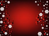 Beautiful design winter snowflake background. Vector image poster