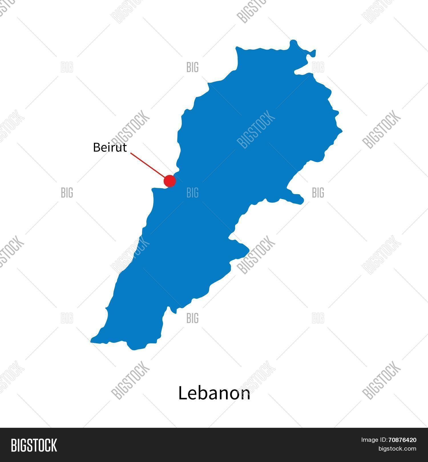 Detailed vector map lebanon vector photo bigstock detailed vector map of lebanon and capital city beirut sciox Gallery