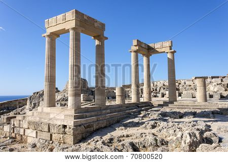 The acropolis of Lindos, Rhodes
