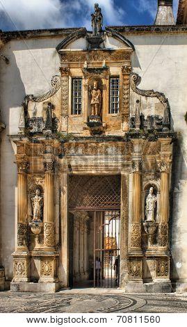 Iron door of the Coimbra University