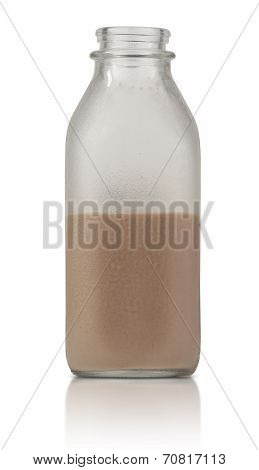 Half Full Quart Of Chocolate Milk