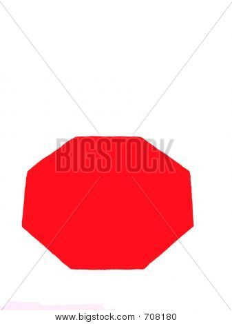Blank Red Sign