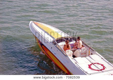 Pleasure Cruising in a Power Speedboat