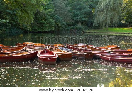 Boats On Lake In Park