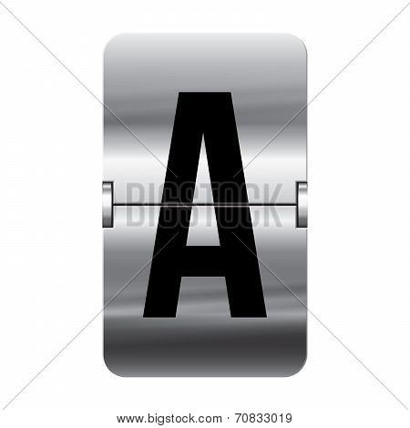 Silver Flipboard Letter A - Departure Board - A