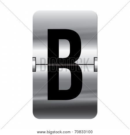 Silver Flipboard Letter - Departure Board - B
